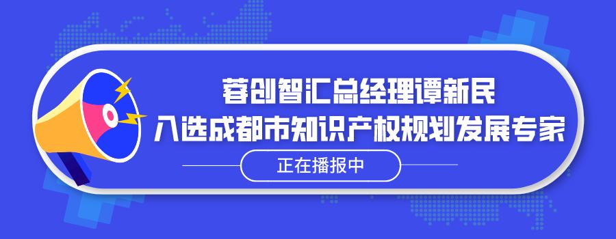 蓉创智汇总经理谭新民入选成都市知识产权规划发展专家